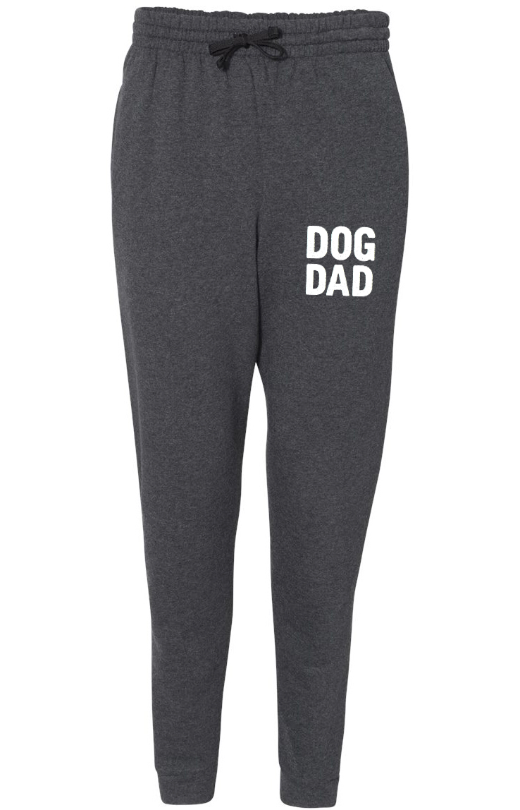 DOG DAD Unisex Fleece Black Heather Jogger