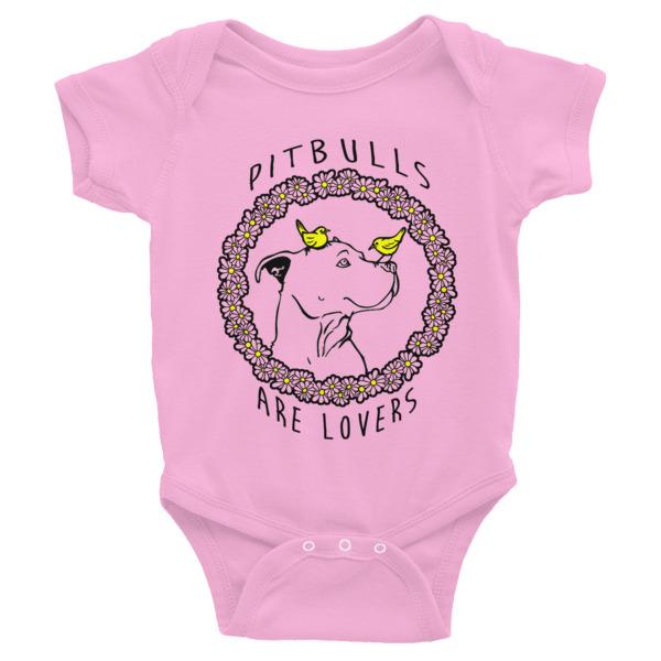 PIT BULLS ARE LOVERS Infant Bodysuit