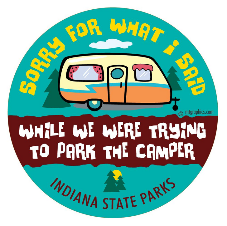 Sorry for what I said CAMPER Vinyl Sticker*