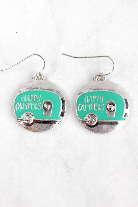Cute Camper Mint and Silver Earrings*