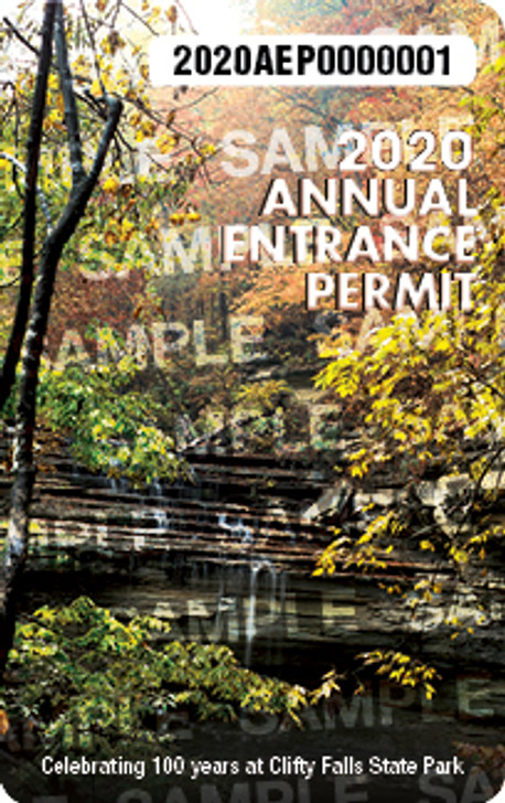 2020 Annual Entrance Permit. Valid January 1, 2020-December 31, 2020.