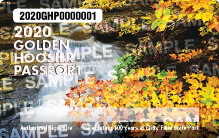 2020 Golden Hoosier Passport. Valid January 1, 2020-December 31, 2020.