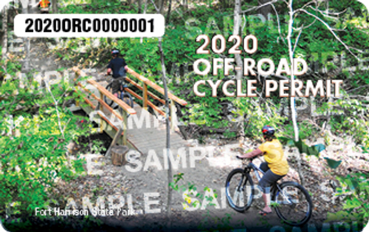 2020 Off-Road Cycling Permit. Valid January 1, 2020-December 31, 2020