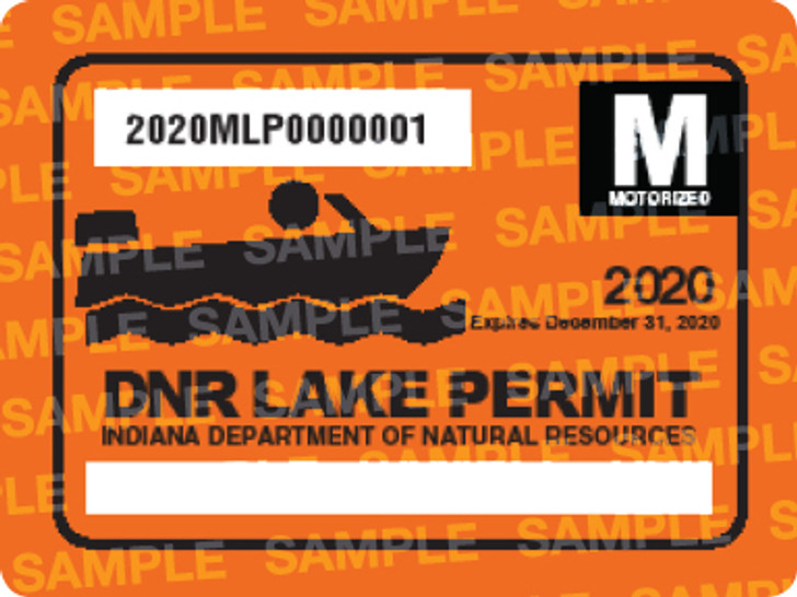 2020 Motorized Lake Permit. Valid January 1, 2020-December 31, 2020.