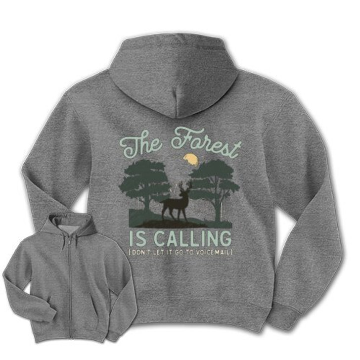The Forest is Calling Zippered Sweatshirt
