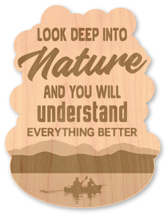 Deep Into Nature Wood Sticker-Natural*