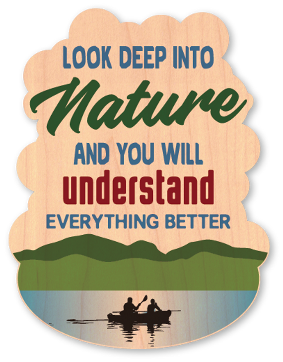 Deep Into Nature Wood Sticker-Color*
