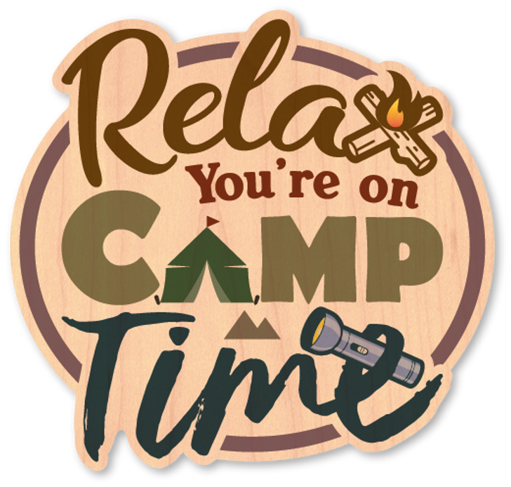 Camp Time Wood Sticker-Color*