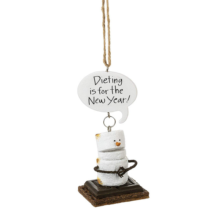 S'mores Dieting is for the New Year Ornament*