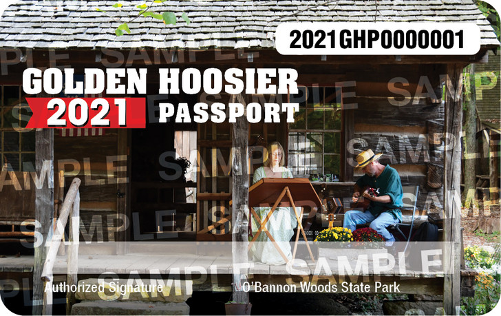 2021 Golden Hoosier Passport. Valid January 1, 2021-December 31, 2021.