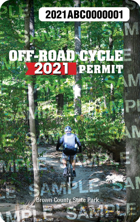 2021 Off-Road Cycling Permit. Valid January 1, 2021-December 31, 2021.