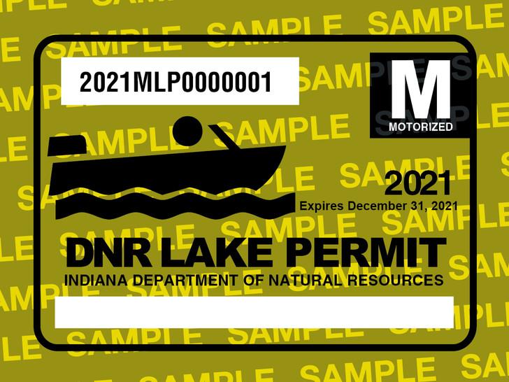 2021 Motorized Lake Permit. Valid January 1, 2021-December 31, 2021.