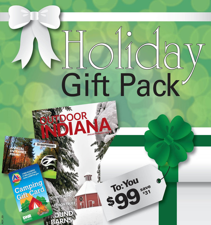 Your camp pack includes: a 2021 Annual Entrance Permit, a $65 camp gift card, and a 1 year subscription to the Outdoor Indiana Magazine.