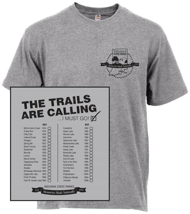The Trails are Calling STEEL T-Shirt*