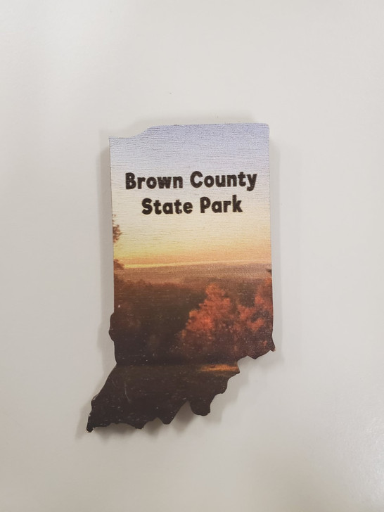 Brown County State Park Wood Magnet*