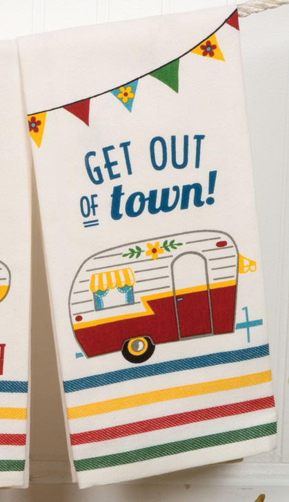 Get out of town. Tea towel*