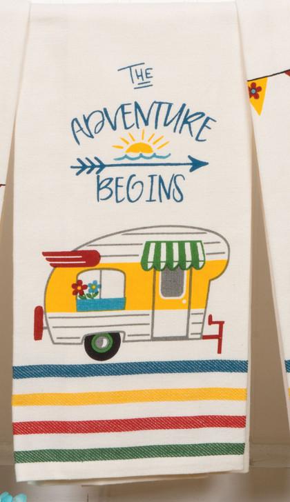 Adventure begins. Tea towel*