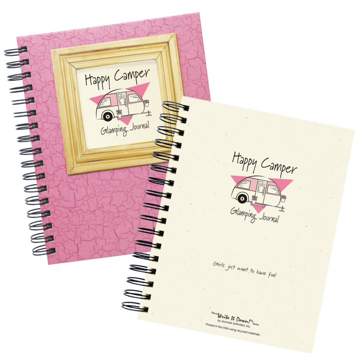 Happy Camper - Glamping Journal (pink)*