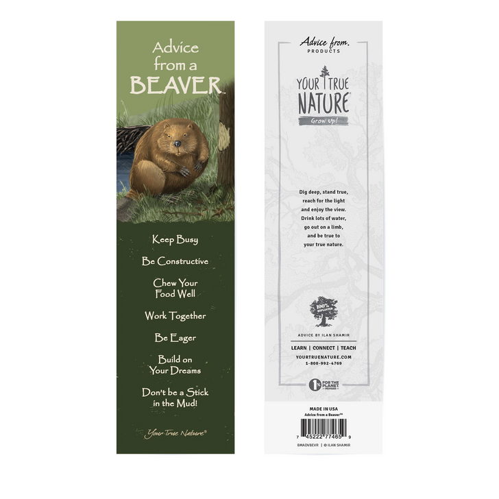 Advice from a Beaver Bookmark*