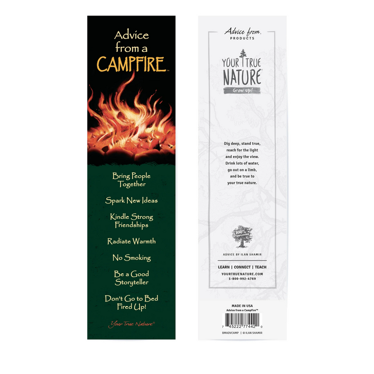 Advice from a Campfire Bookmark*
