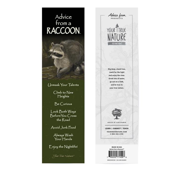Advice from a Raccoon Bookmark*