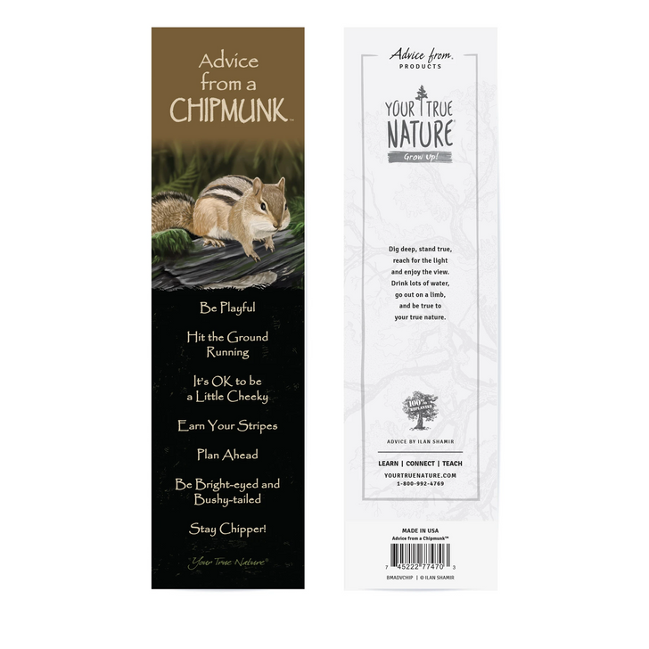 Advice from a Chipmunk Bookmark*