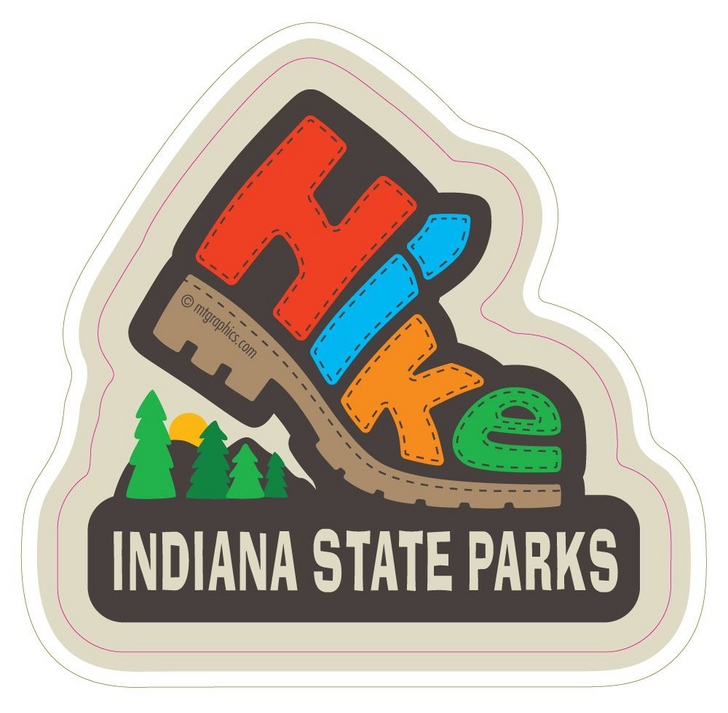 Hike/Boot Indiana State Parks Vinyl Sticker*