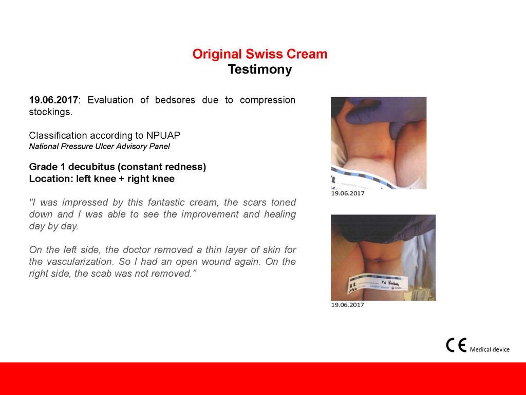 Original Swiss Cream For Wound Care.                              3.4 oz/ 100 ml