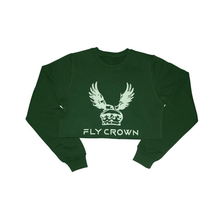FC ORIGINAL FOREST GREEN CROP TOP CREW