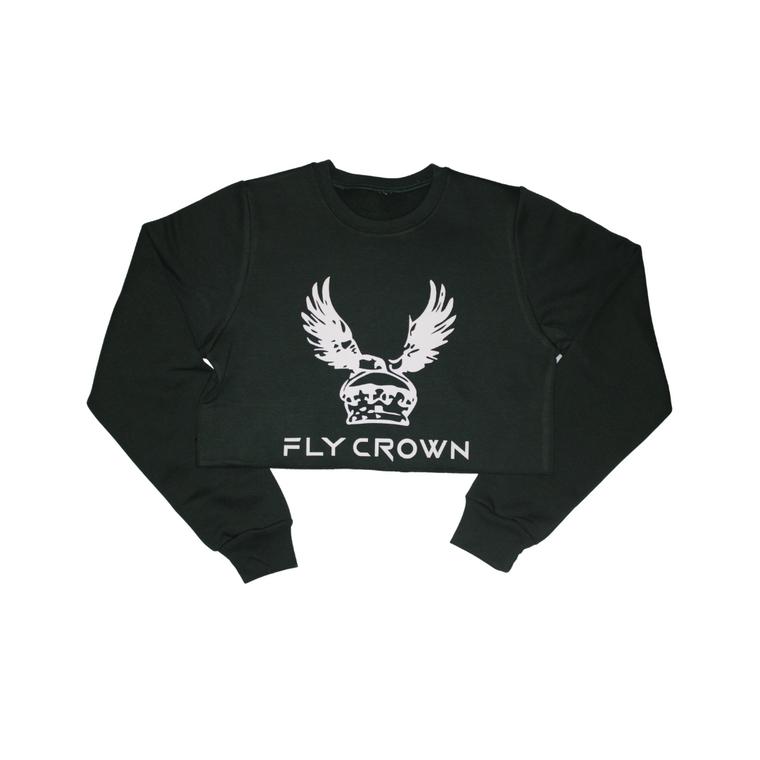 FC ORIGINAL BLACK CROP TOP CREW