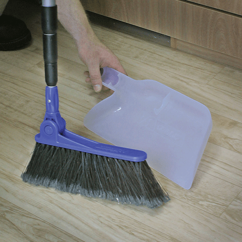 Camco Adjustable Broom W/Clip on Dust Pan