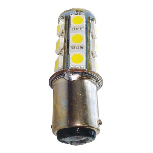 LED BA15D Replacement Bulb - Cool White - 2.7W