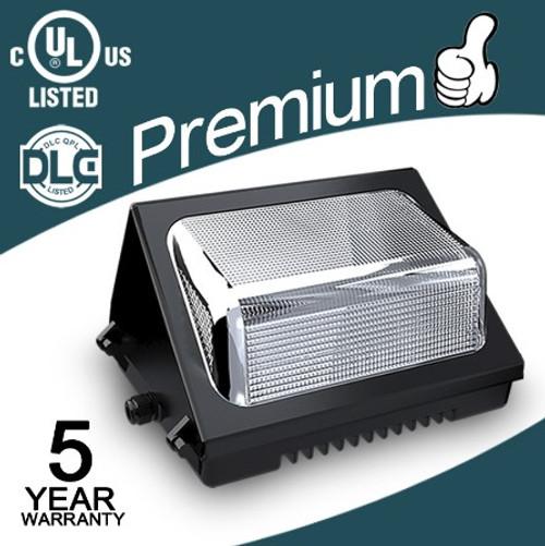 40W LED Black Finish Wall Pack