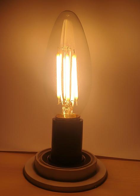 4W C35 LED Edison Bulb Warm White (Clear Lens)