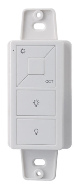This AMPERE in wall controller will control 1 zone of receiver, single color controller.  Compatible with all universal series RF receivers. Just 1 receiver can be paired by max 8 different remote controls. Max MHz 916
