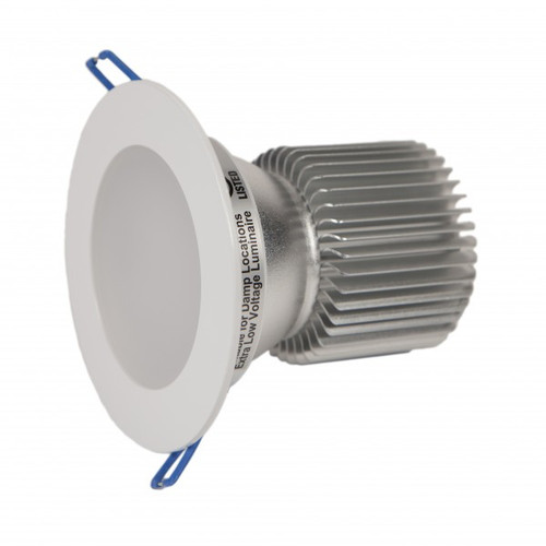 Dimmable with a 24 Volt DC dimmer.   6 lights powered per 24 Volt DC, 100 watt power supply IP44 suitable for damp location.  Certified airtight per ASTM E283-04. UL, CUL, FCC, IP44, ENERGY STAR compliant.
