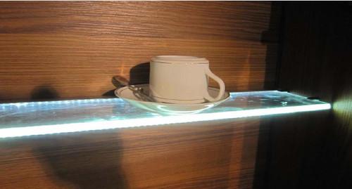 3 Meter Aluminum Extrusion for 8mm Glass Edge