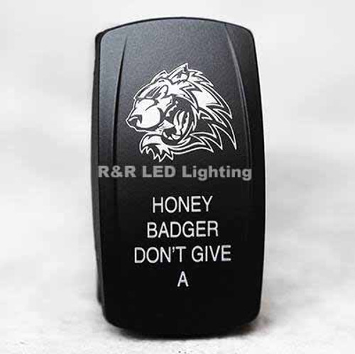 Honey Badger Don't Give A .... LED Rocker Switch