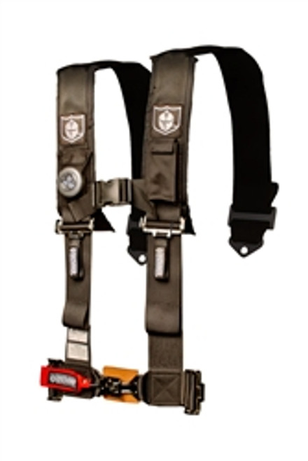 """Pro Armor Special Edition All Black Hardware 5pt harness w/3"""" Pads Sewn Together SFI T&P"""