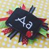 Chalkboard Hair Feltie Alpha Machine Embroidery Design
