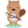 Lil Beaver Applique Set Machine Embroidery Design