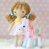 ITH Abby Doll and Pony Machine Embroidery Design