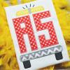 Firetruck Monogram Alpha Machine Embroidery Design