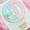 Hot Air Balloon Monogram Alpha Machine Embroidery Design