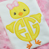 Girly Chick Monogram Alpha Machine Embroidery Design
