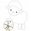 Basketball Lamb Vintage and Chain Stitch