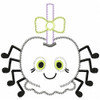 Girly Spider Candy Apple Satin and Zigzag Applique