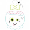 Girly Zombie Candy Apple Vintage and Chain Applique Machine Embroidery Design