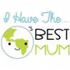 Worlds Best Mum Satin and Zigzag Applique