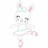 Ballerina Bunny Vintage and Chain Applique